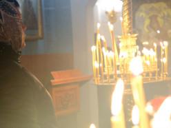 Освящение пасхальной снеди в соборе святого Архангела Михаила. Видео