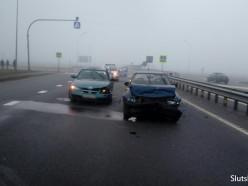 ДТП на трассе под Слуцком: водителей просят включать ближний свет в тумане