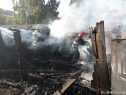 В Селище горела баня, а в Слуцке недалеко от СЭСа - несколько сараев