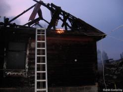 Ночной пожар унёс жизнь хозяина дома