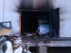 В 13 городке горел склад, арендованный предпринимателями