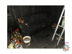 На пожаре в Слуцке погибли муж и жена