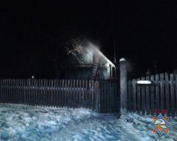 Пожар в Стародорожском районе