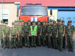 Слуцкие кадеты посетили районный отдел по чрезвычайным ситуациям