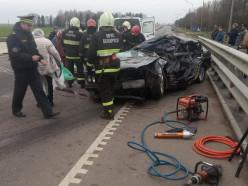 Скончался водитель BMW, попавший в аварию недалеко от Слуцка