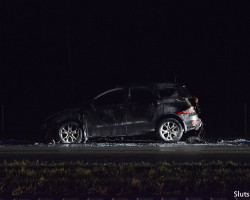 На трассе Р23 сгорела машина 2013 года выпуска (видео)