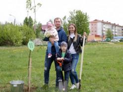 В Слуцке появился сквер семейных деревьев