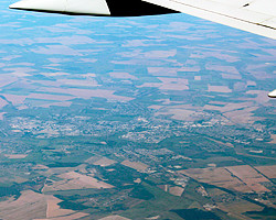 Слуцк с высоты самолёта. Фото
