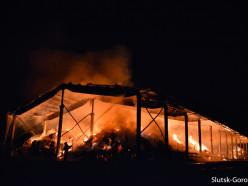 Возле брановичского кладбища сгорел ангар с соломой (обновлено)