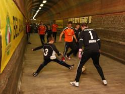 Подземный футбол. Футболисты «Шахтёра» сыграли с детьми в футбол на глубине 416 метров
