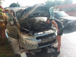 На улице Ленина сгорел автомобиль. Подробности
