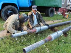 Возле дома № 29 на улице Чехова заменили трубопровод