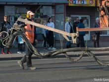 Улицу Ленина в центра Слуцка отремонтировали «Тайфуном». Фотофакт