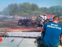 В деревне Лядно сгорел трактор