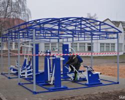 В Слуцке появился первый спортивный комплекс с уличными тренажёрами