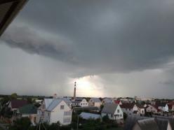 Из-за гроз в Минской области объявлено штормовое предупреждение