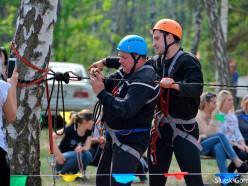 В Нежевском лесу проходит туристический слёт педработников Случчины