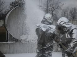 Спасатели провели комплексные учения на Слуцком мясокомбинате. Фото
