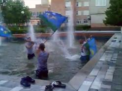 Слуцк. День ВДВ и единственный в городе фонтан