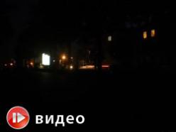 Вечерний Слуцк: хоть глаз выколи. +Видео