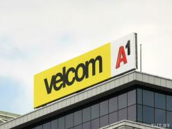 Velcom сменил логотип на центральном офисе в центре Минска