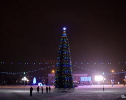 В новогоднюю ночь на площади пройдёт праздничная дискотека. Движение перекроют