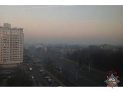 Задымление над Минском и областью